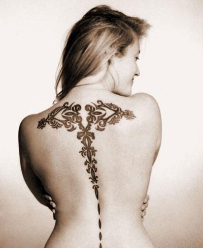 tatto en la espalda