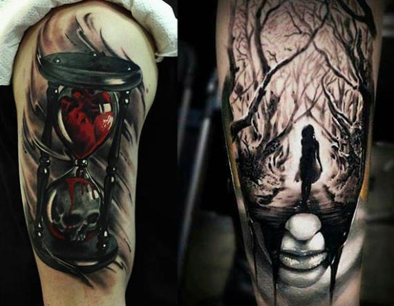 Tatuaje gótico en el brazo