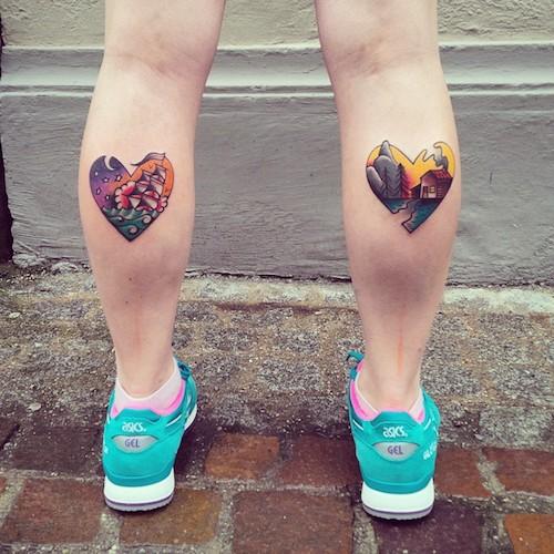 tatuaje en la pantorrilla para chica