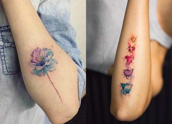 Tatuajes de acuarelas