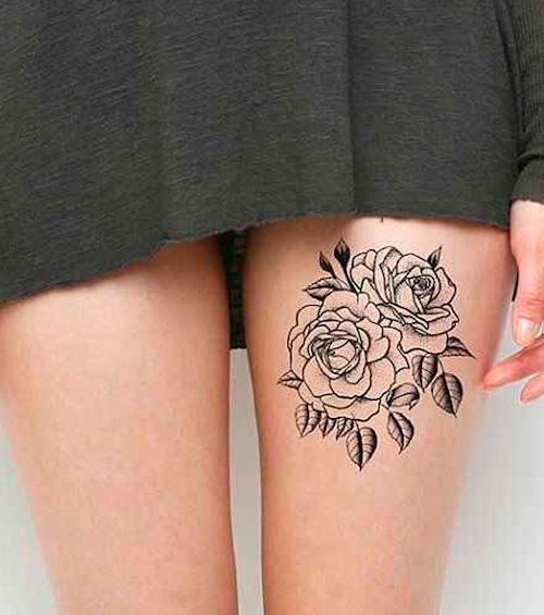 tattoo en el muslo de mujer 2019