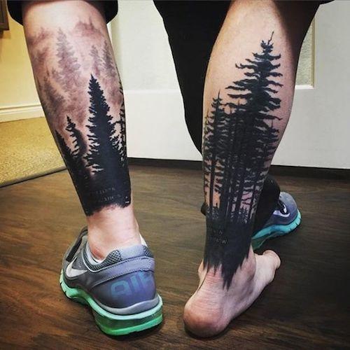 tattoo en la pantorrilla de hombre 2019