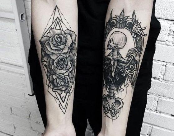 tatuajes en antebrazos tono de la piel